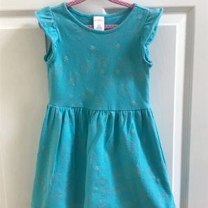 Gymboree Teal Starfish Dress 3T